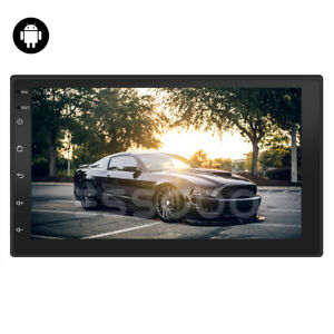 2 DIN 7'' AUTORADIO 2GB RAM ANDROID 10.1 WIFI BLUETOOTH GPS SAT NAV 16GB ROM USB