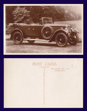 UK AUTOMOTIVE 1927 VAUXHALL 14-40 LM TYPE REAL PHOTO POSTCARD