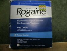 Rogaine Men's Topical Solution Extra Strength 5% Minoxidil 3Month Supply exp1222