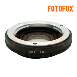 MD-EOS Minolta MD MC Lens to Canon EOS EF Mount Glass Adapter focus to infinity