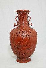 Chinese  Monochrome  Red  Glaze  Porcelain  Vase  With  Mark    M634