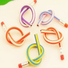 5Pcs Colorful Magic Bendy Flexible Soft Pencil With Eraser For Kids Writing Gift