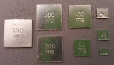 Fractal Weight Set of 8 for Calibration - 10 to 500mg - 1100mg Total