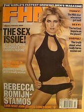 FHM Magazine January 2002 Rebecca Romijn Stamos Sex Issue Lingerie