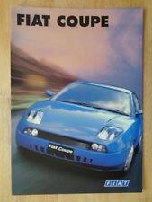 FIAT COUPE orig 1996 UK Mkt sales brochure - 2.0 20v & Turbo