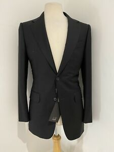 Dunhill Blazer Belgravia Men's Wool Black 36R BNWT RRP £1395 (Made By Zegna)