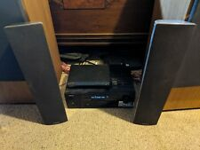 PAIR of DEFINITIVE TECHNOLOGY MYTHOS TWO WALL TABLETOP SPEAKERS STAINLESS 200W