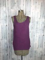 Eileen Fisher Knit Merino Wool Tank Sleeveless Top Shell Purple Career Size M