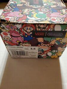 Nintendo Vans Kids Shoes Special Edition Super Mario Game Over 3.5 US Rare Kong