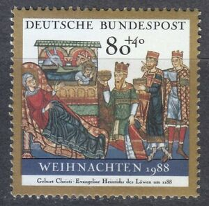 Germany 1988 MNH Mi 1396 Sc B674 Christmas **