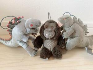 Godzilla Mechagodzilla Kong 3set Mascot Plush Doll Sega Plaza Prize Stuffed Toy