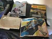 Vintage Scalextric brochures and various paper work