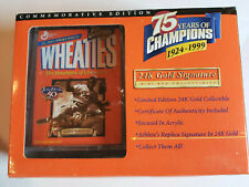 JACKIE ROBINSON WHEATIES 75 YEARS OF CHAMPIONS 24k GOLD SIGNATURE NIP