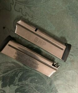 2 Each Springfield Armory 1911 EMP PI6070 Stainless Steel 9R 9mm Luger Magazine.