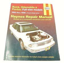 Haynes Manuals: Buick, Oldsmobile & Pontiac 1985 thru 1998 Auto Repair Manual