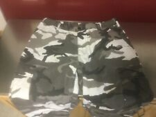 CAMO CARGO Pants Military Style White/black/gray....Mens Large-Regular Workwear