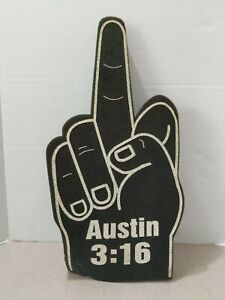 WWF Stone Cold Steve Austin 3:16 Foam Finger Vintage Attitude Era Wrestling