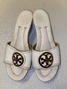 Tory Burch  Patti Wedge Platform Shoes White 8.5