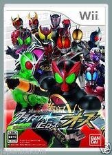 Used Wii Kamen Rider Climax Heroes OO Nintendo JAPAN JP JAPANESE JAPONAIS IMPORT