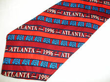 Olympic Games Collection Atlanta 1996 Stripes Red Necktie Tie by RM Sports