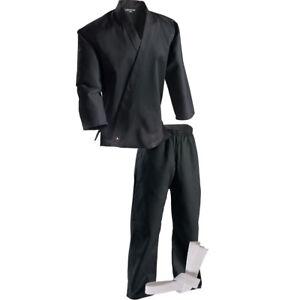Century Kid's 6 oz. Lightweight Student Uniform w/ Elastic Pants - Black -kimono