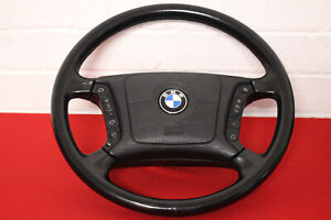 VGC: GENUINE BMW E38 7 SERIES STEERING WHEEL & HORN PAD - BLACK - 735i 740i 730i