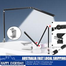 Folding Dimmable LED Desk Bedside Reading Lamp Light Adjustable Arm Clip-on Flex