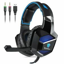 Cuffie Gaming per PS4 PC USB LED 7 Colori Con Controllo Volume e Microfono Gamer
