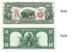PREPRODUCTION $10 dollar buffalo US note currency