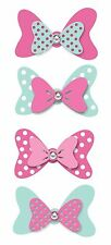 Minnie Mouse Bows Wall Decals Set of 4 Disney Bow Embellishments Stickers NEW