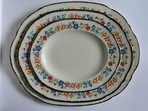 3 x Alfred Meakin Tennessee Royal Marigold Serving Platters