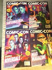 SDCC 2018 TV GUIDE EXCLUSIVE 4 COVERS SUPERNATURAL MAD RIVERDALE & WB/DC TV.