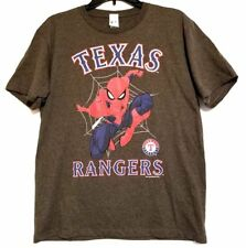 Marvel SPIDER-MAN MLB TEXAS RANGERS Youth Graphic T-Shirt (XL) NEW
