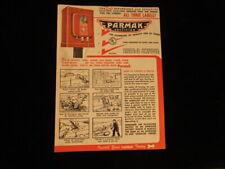 Vintage paper advertising Brochure 1950's Parmak electric Fencers