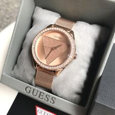 Guess Watch * W1142L4 Tri Glitz Rose Gold Steel Mesh for Women COD PayPal