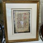 Leaf from Manuscript Latin Dominican Breviary Antiphoner 1325-1350 COA Included