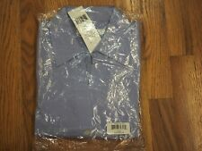 FOXCROFT NYC Non-Iron STRETCH Easy Care Poplin Blouse Color Blue Size Med.