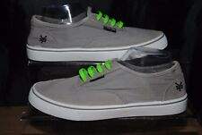 Zoo York Mens Grey Green White Canvas Shoes / Trainers Uk Size 6