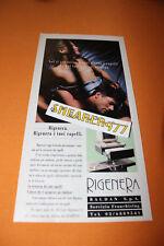 RITAGLIO CLIPPING PUBBLICITA' ADVERTISING NUDO TOPLESS RIGENERA SEXY 1992