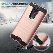 For T-mobile Revvl Plus Slim Armor Hybrid Shockproof Rubber Bumper Case Cover