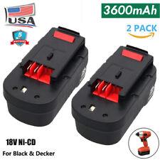 2-Pack HPB18-OPE For Black&Decker 18V Battery 3.6 Ah 244760-00 A1718 FSB18 FEB18