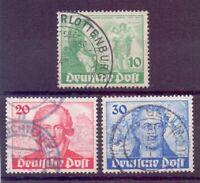 Berlin 1949 - Goethe - MiNr. 61/63 rund gestempelt - Michel 180,00 € (704)