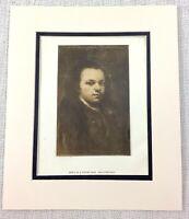1922 Antico Stampa Francisco Goya Autoritratto Pittura Artista Come a Young Uomo