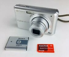 Sony Cyber-shot DSC-S950 10.1MP Digital Camera - Silver With 4GB Memory Card