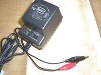 6VOLT OR 12VOLT BATTERY CHARGER 500MA For 6V 12V Batteries w/ LED Status Lights