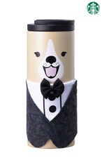 2018 Korea Starbucks Happy Now Year SS troy smiling dog tumbler & Tuxedo cloth