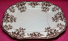 "SPODE WILLIAMS-SONOMA THANKSGIVING ACORN MOTIF ""MANOR"" LARGE TURKEY PLATTER RARE"