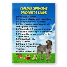 ITALIAN SPINONE Property Laws FRIDGE MAGNET No 2 DOG