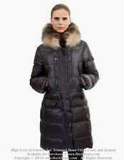* Goose Down Coat Jkt Parka w/ Raccoon Fur sz XL / US 12 EU 44 $895 Пуховик Енот