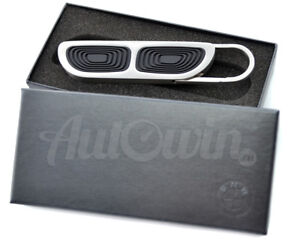 BMW KEY RING CHAIN ICONIC SINGLE KIDNEY GRILLE ORIGINAL OEM NEW 80272353737